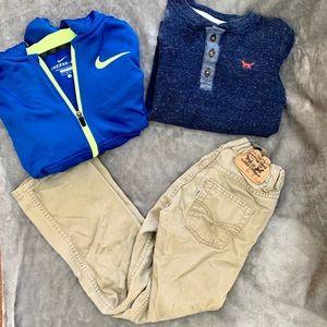 Boys 7/8 Lot. Carters, Nike, Levi